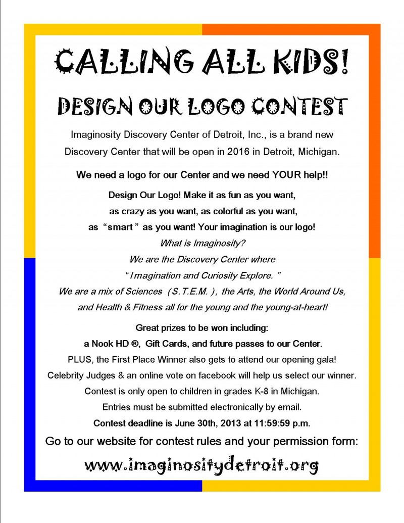 Detroit: IMAGINOSITY Discovery Center, LOGO Design Contest