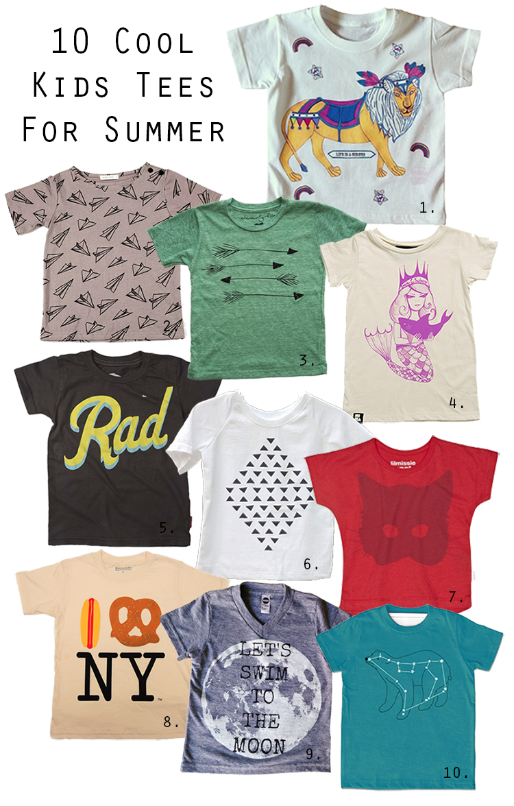 Guest Blog: 10 Cool Kids Tees for Summer