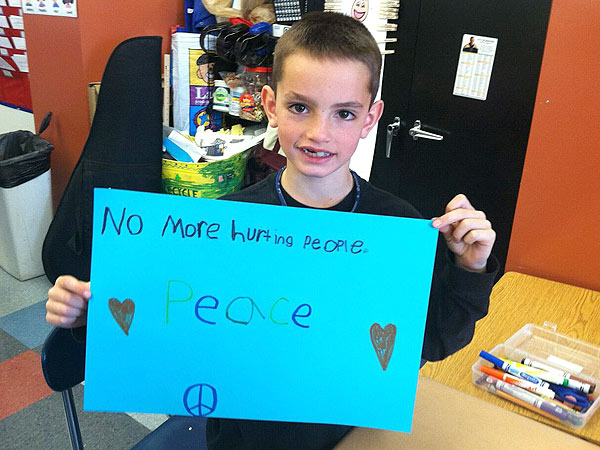 No more hurting people- Love to Martin Richard & his family